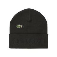 Supreme LACOSTE 潮流 配件 毛帽 黑色
