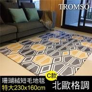 TROMSO珊瑚絨短毛地毯-特大C北歐格調230x160cm