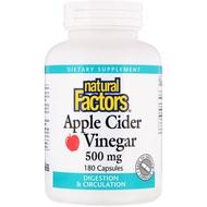 Natural Factors Apple Cider Vinegar 500 mg 180 Capsules