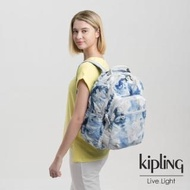 【KIPLING】率性渲染藍機能手提後背包-SEOUL