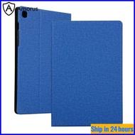 [Amorus Casing Tablet] Casing Tablet Samsung Galaxy Tab S6 Lite, Casing Kulit Dudukan Tekstur Kain