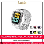 ❗❗Ready Stock❗❗ Clear Soft Silicone Sport Watch Strap For AppleWatch Band Series 1/2/3/4/5/6 Transparent Rubber Strap