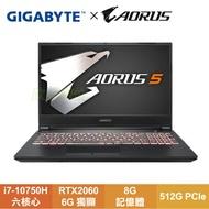 GIGABYTE AORUS 5 KB-7TW1030SH 技嘉窄邊框電競筆電/i7-10750H/RTX2060 6G/8G/512G PCIe/15.6吋IPS FHD 144Hz/W10/台灣製造