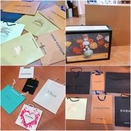 LV Burberry gucci Louis Vuitton 各式各類紙袋 提袋紙盒