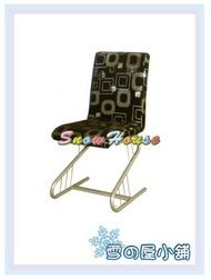 ╭☆雪之屋居家生活館☆╯R848-03 烤銀腳月琴餐椅(黑亮銀布) /休閒椅/造型椅