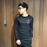 美國百分百【全新真品】Nike Air Jordan T恤 喬丹空中飛人 logo 長袖 T-shirt 黑色 AV81