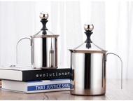 ถ้วยปั๊มฟองนม เครื่องทำฟองนมแสตนเลส ถ้วยตีฟองนม  ที่ปั๊มฟองนม ขนาด 800ml / 400ml