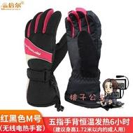 USB電熱手套 電熱手套戶外 充電鋰電USB電暖手套 手背發熱 男女冬季保暖