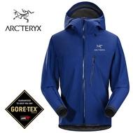 【ARCTERYX 始祖鳥 加拿大】ALPHA SL GORE-TEX 極輕量防水外套 防水夾克 風雨衣 男款 崔萊頓藍 (L06982000)