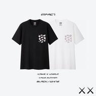 Kaws x Uniqlo 2019 聯名系列 KAWS SUMMER 口袋 滿版 短T 黑 白 粉 IMPACT