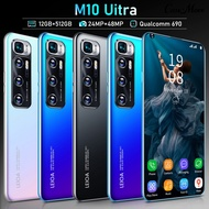 2GB+16GB M10 Ultra 7.3inch HD Curved Screen 5G Rechargeable Mobile Phone