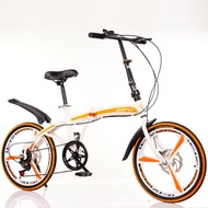 20 Inch Variable Speed Double Disc Brake Folding Bicycle Adult Outdoor Riding Alloy One-wheel Road Mountain Bike