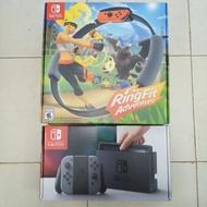 Nintendo Switch 灰黑主機 任天堂 健身環大冒險 全新現貨 12天內到貨