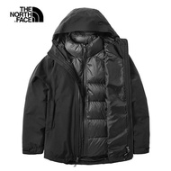 【The North Face】The North Face北面女款黑色防水保暖三合一外套|46I7KX7