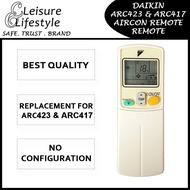 [Singapore Warranty] Daikin Aircon Remote Control ARC423 ARC417 Daikin Remote