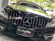 [現貨]Kc汽車部品 賓士 BENZ W204 S204 C204 [GT] 銀色 水箱罩 C250 C300 C63