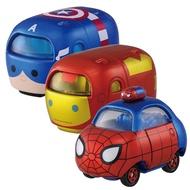 Tomica - 【TOMICA】Disney Tsum Tsum! 疊疊樂小車 漫威組合-鋼鐵人+蜘蛛人+美國隊長