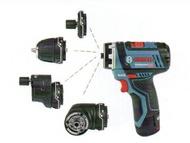 德國BOSCH 博世 GSR12V-15FC 12V鋰電電鑽/起子機 惡魔機 小精靈 電鑽 彎角 多角度