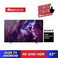 """Sony 4K UHD HDR Smart Android TV A8H OLED TV 2020 Model (65"""") KD-65A8H"""