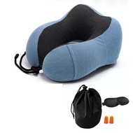 Ice Silk U-shaped Memory Foam Cotton Neck Pillow