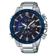 EDIFICE 先進藍芽連接不鏽鋼錶-靜謐藍(EQB-800DB-1A)
