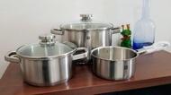 德國Zwilling雙人牌不鏽鋼三件套鍋具組-湯鍋
