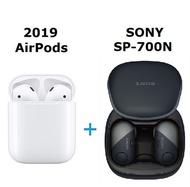 【AirPods超值組】Apple原廠Airpods 無線耳機 + SONY WF-SP700N真無線降噪耳機-黑