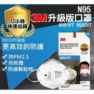 【12H出貨】3M口罩 n95口罩 9001V 9002V 防PM2.5霧霾  呼吸閥 防塵口罩防霾口罩