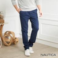 【NAUTICA】修身保暖休閒長褲(深藍)