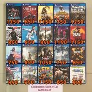 แผ่นเกมส์ PS4 มือสองสภาพดี ราคาถูกเวอร์ สนใจเกมส์ไหน เเจ้งเกมส์ที่ต้องกาเพื่อเช็คสินค้า เดี๋ยวผมทำลิ้งสั่งซื้อให้ 2