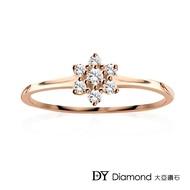 【DY Diamond 大亞鑽石】L.Y.A輕珠寶 18K玫瑰金 捧花 鑽石線戒