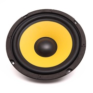 Motorcycle Car Audio Speaker Bass Piano Horn Subwoofer 1pc Round Inner Magnetic 6.5 Inch Full Frequency 60W 4 Ohm Yellow