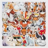 10/50Pcsการ์ตูนน่ารักFox Vulpes Graffitiสติกเกอร์DIYแล็ปท็อปกระเป๋าเดินทางตู้เย็นPVCสติกเกอร์สำหรับเด็กของเ...