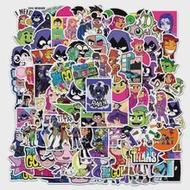 10/50/100 PCS Teen Titans Go! อะนิเมะการ์ตูนของเล่นเด็กกระเป๋าเดินทางแล็ปท็อปโทรศัพท์มือถือถ้วยน้ำ PVC สติกเก...
