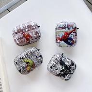 漫威 Airpods pro 創意 綠巨人蝙蝠俠蜘蛛人 歐美 潮流 airpods1/2 防摔 蘋果耳機殼 磨砂IMD殼