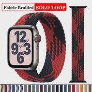 สำหรับ Apple Watch Band 44มม.40มม.42มม.38มม.Smartwatch Braided Solo Loop ผ้าไนลอน Apple Watch Series 6 Se 5 4 3สาย