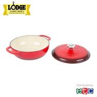 Lodge 3 Quart Red Enameled Cast Iron Dutch Oven