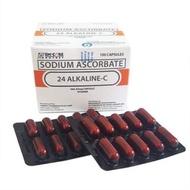 Promo Authenntic 24 ALKALINE C SODIUM ASCORBATE 100CAPS