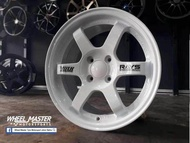 TE37 DESIGN 15X7 4X100 ET35 WHITE Sport Rim # Accept Trade In at Seller Workshop #( INSTALLATION AT TAMAN UNIVERSITI JOHOR BAHRU) - No delivery available