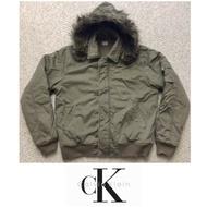 #免運費# Calvin Klein Jeans CK飛行員 舖棉 軍綠 連帽外套 L
