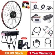 EBikeชุด48V 500Wด้านหน้าE-จักรยานล้อHubมอเตอร์ชุดW/15Ah Eจักรยานชั้นกระเป๋าเดินทางแบตเตอรี่