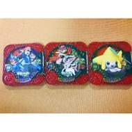共三隻 小智 甲賀忍蛙 仙子精靈 莎莉娜 基拉祈 Pokemon Tretta 神奇寶貝 寶可夢 卡匣 超夢 烈空 夢幻