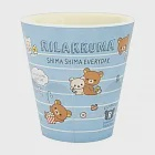 San-X 拉拉熊我愛北極熊系列塑膠水杯。藍