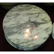 【吉蓮工坊】(10吋) 25cm大理石轉盤 旋轉座~花蓮生產 外銷歐美廚房用品 耐高溫 做蛋糕切起司 插花藝品擺放
