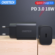 CHOETECH อแดปเตอร์ไอโฟน ชาร์จเร็ว PD Charger 18W Quick Charger 3.0 USB Type C Fast Charger QC3.0 for iPhone 11 X Xs 8 Pro iPad USB Charger Phone Charger