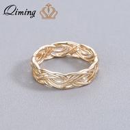 QIMING MinimalistหญิงแหวนBagueแฟชั่นเครื่องประดับราคาถูกKnuckleนิ้วเท้าอินเดียทองแหวนผู้หญิงผู้หญิงที่ดีท...