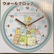 【角落生物 時鐘】角落生物 時鐘 壁鐘 掛鐘 藍 日本正版 該該貝比日本精品 ☆