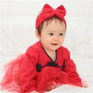 長袖包屁裙 蕾絲緞帶 中國風 造型包屁裙 女寶寶 包屁裙 包屁衣 爬服 哈衣 Augelute Baby 70128(好窩生活節)