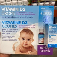 (現貨)加拿大代購Webber嬰幼兒維他命D3滴劑15ml 400iu