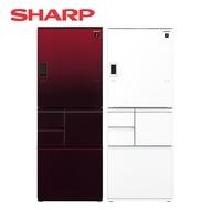 [SHARP 夏普]502公升 五門左右開冰箱 SJ-WX50ET-R/W【✯限時10%點數回饋✯】【加贈 奇美14吋DC立扇 DF-14G0ST】
